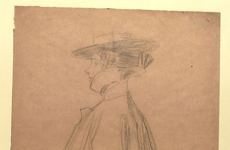 Gustv Klimt, woman with hat and coat, collection Wien Museum