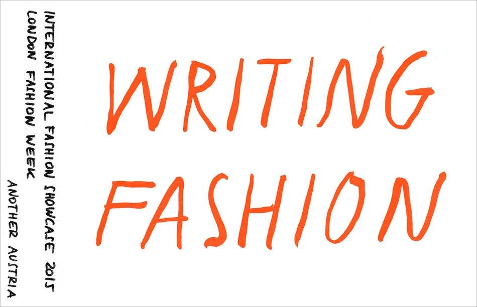 Another Austria 2015: Writing Fashion