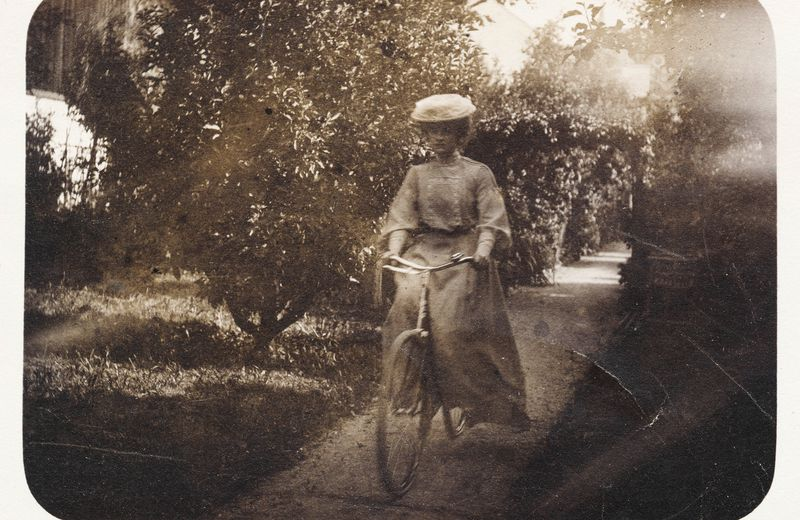 Vintage Woman Bicycle